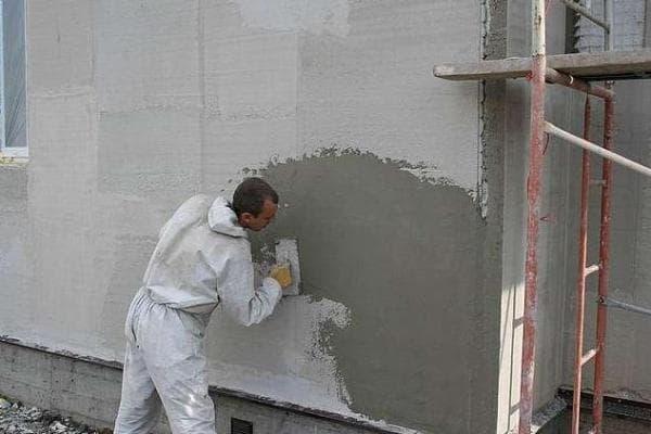 цементная штукатурка из сухой смеси