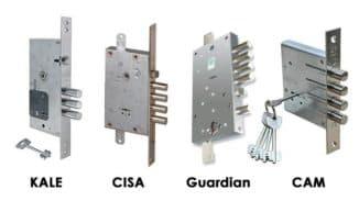 Виды замков для металлических дверей