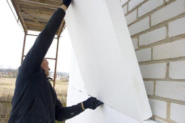 енопласт для утепления кирпичной стены