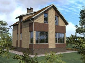 фото проект домов из кирпича с мансардой