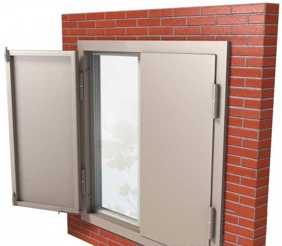 металлические ставни на пластиковые окна