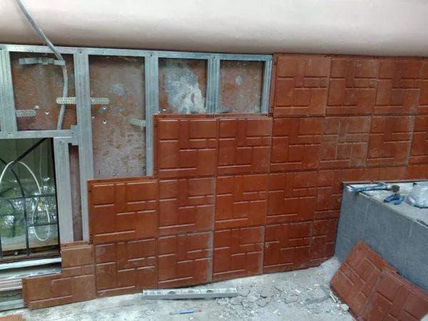 глиняные облицовочные панели для фасада дома