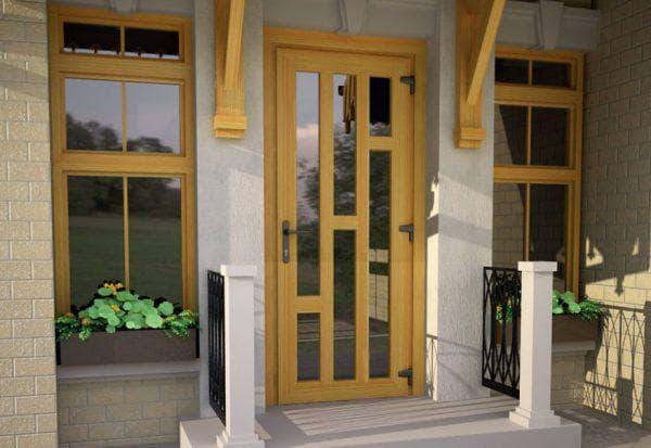 пластиковые входные двери для частного дома Rehau