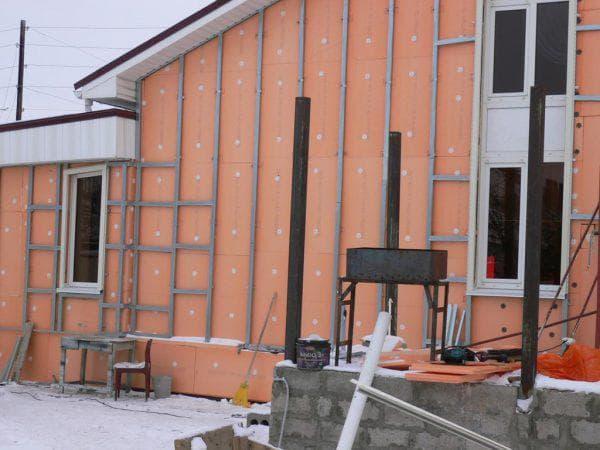 пеноплекс для стен кирпичного дома снаружи под сайдинг