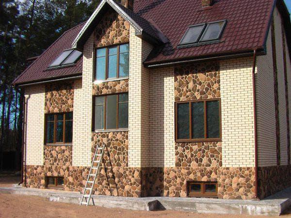 клинкерная плитка «под камень» для облицовки дома