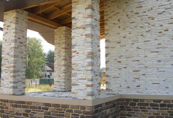 искусственный гибкий камень для облицовки дома