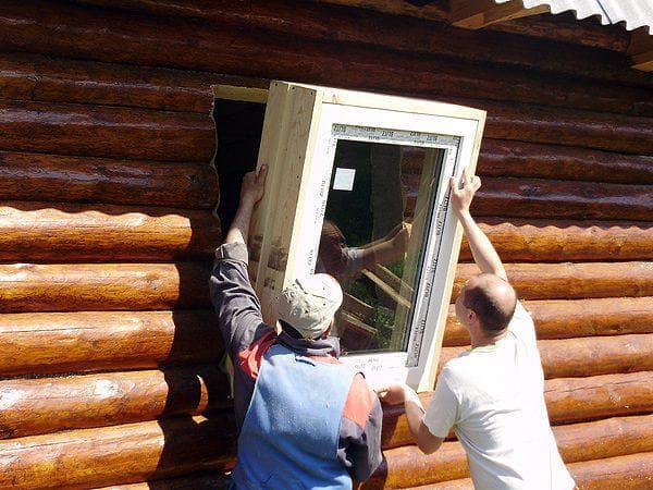 отделка пластиковых окон в деревянном доме