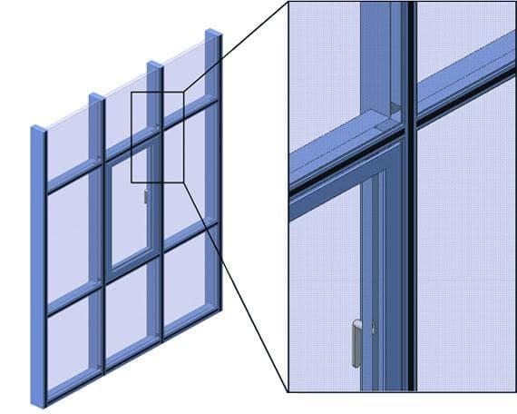 фасадное остекление из алюминиевого профиля