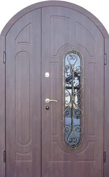 входная металлическая дверь арка