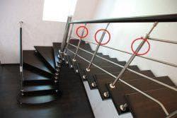Высота перил на лестнице в частном доме