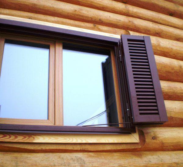 сборные ставни с створками на окна для дачи