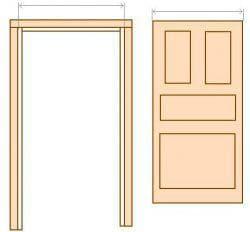 дверные проёмы для межкомнатных дверей