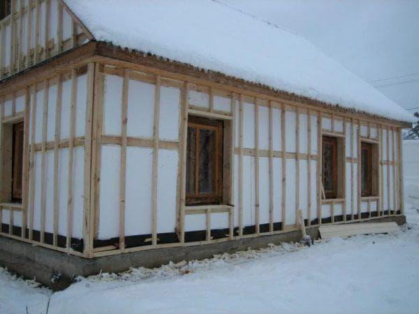 пенопласт для утепления деревянного дома снаружи