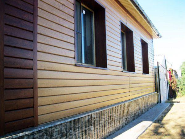деревянный сайдинг для фасадов дома