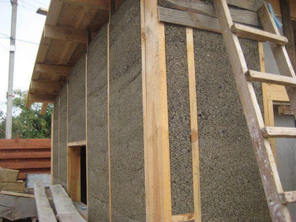 опилки для утепления деревянного дома снаружи