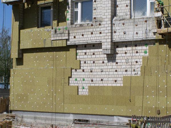 минеральная вата для утепления кирпичного дома снаружи