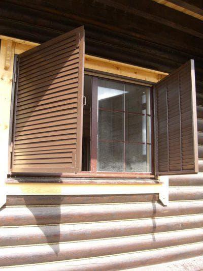 съёмные ставни на окна для дачи