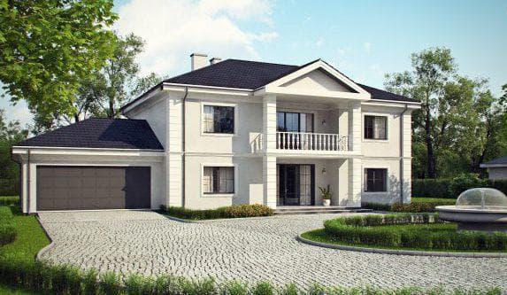 двухэтажный проект дома Образ жизни мечты