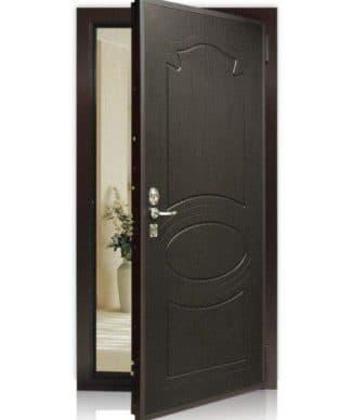 дверь металлическая эконом входная внутреннего открывания
