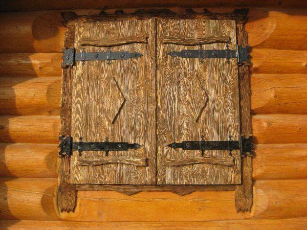 деревянные ставни на окна для дачи