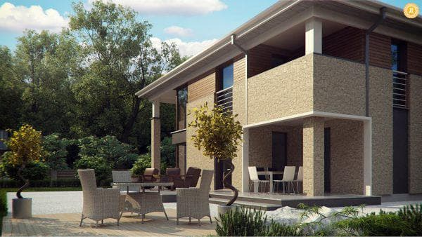 двухэтажный проект дома Стиль и захватывающие виды