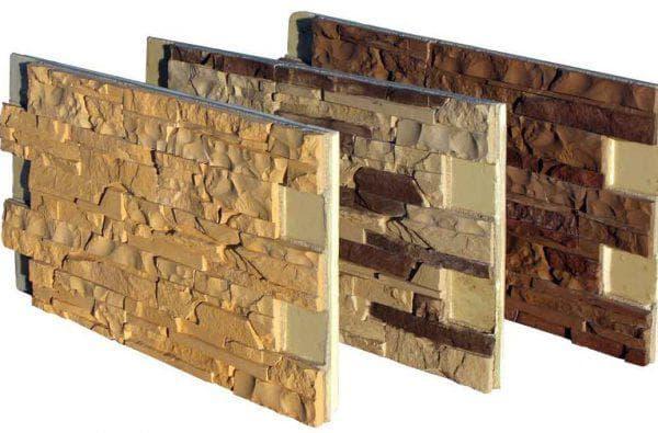утеплённые цокольные панели под камень