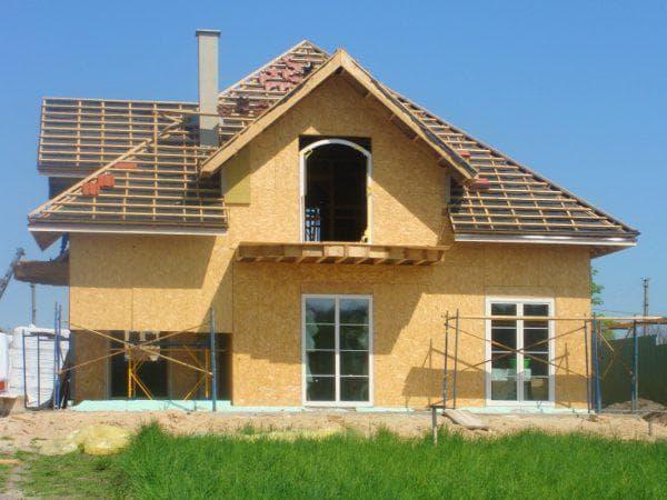 отделка фасада дома из сип панелей OSB
