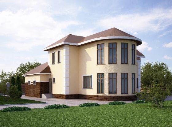 двухэтажный проект дома Впечатляющий проект
