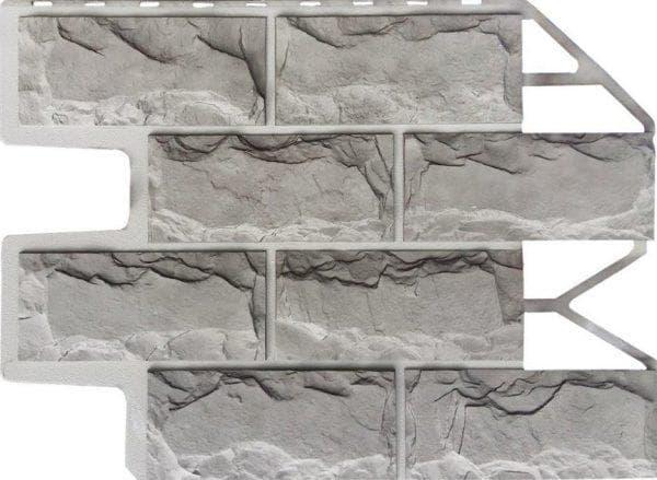металлические цокольные панели под камень