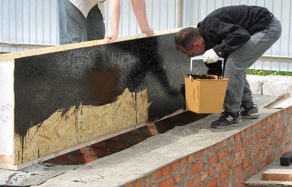 покраска дома из сип панелей