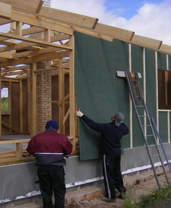 Мягкая ДВП для наружной отделки дома