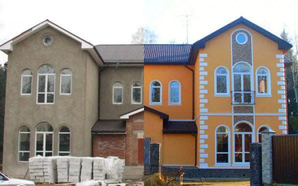мокрый фасад для наружной отделки дома