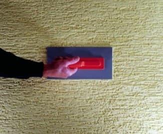 нанесение текстуры на стену