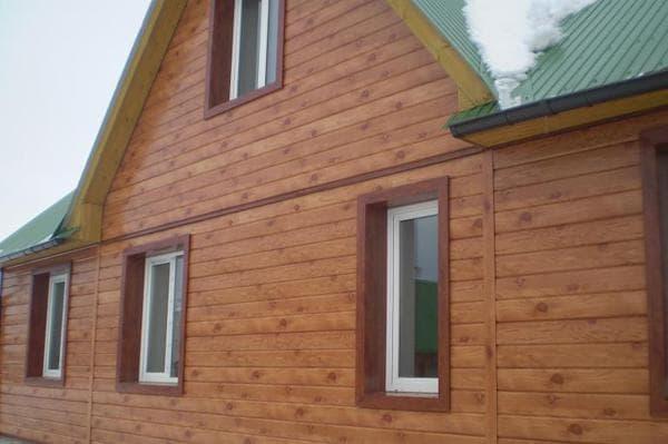 фото имитации деревянного бруса