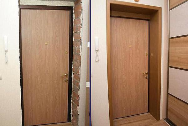 монтаж дверных откосов