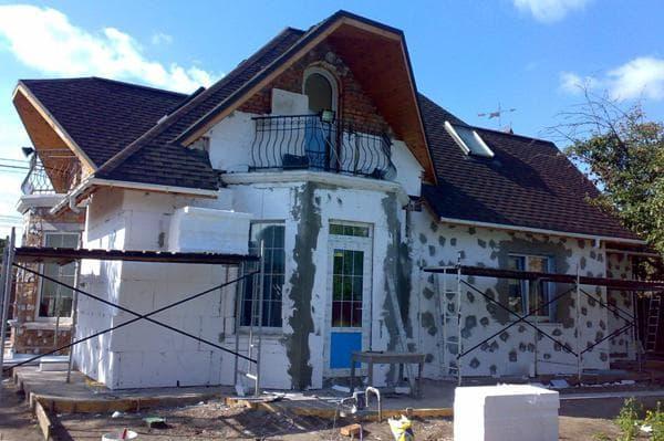 образец утепленного дома на фото