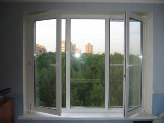 Окно с распашными створками
