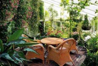 Растительность в саду