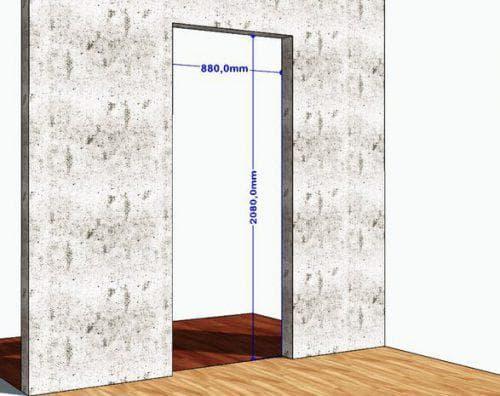 Ширина коробки межкомнатных дверей