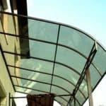Как установить навес над крыльцом из поликарбоната