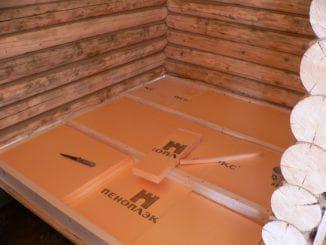 утепление пола пеноплексом в деревянном доме