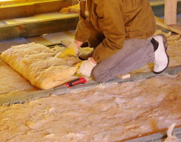 минеральная вата для утепления деревянного пола