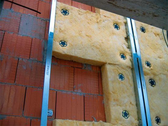 минеральная вата для утепления кирпичной стены