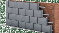 установка фасада металлокассетами
