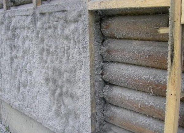 Эковата для стен деревянного дома снаружи под сайдинг