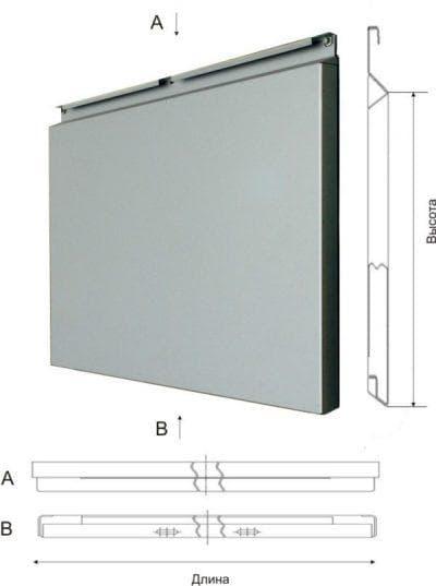 вентилируемый фасад из кассет стали