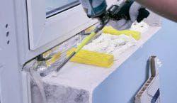 Установка пластиковых подоконников и откосов