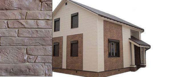 облицовка фасада дома цокольными сайдингами