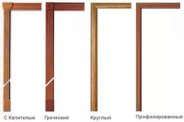 ровный деревянный наличник на двери