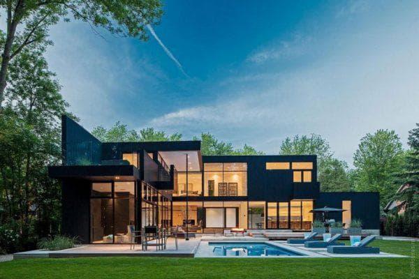 двухэтажный проект дома Минимализм с шиком